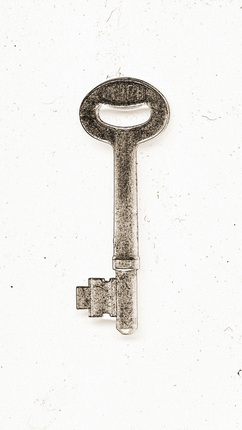 Key to the Union is a digital photo art based on an old skeleton key.